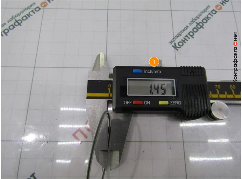 1. Толщина пружины меньше на 0, 09мм.
