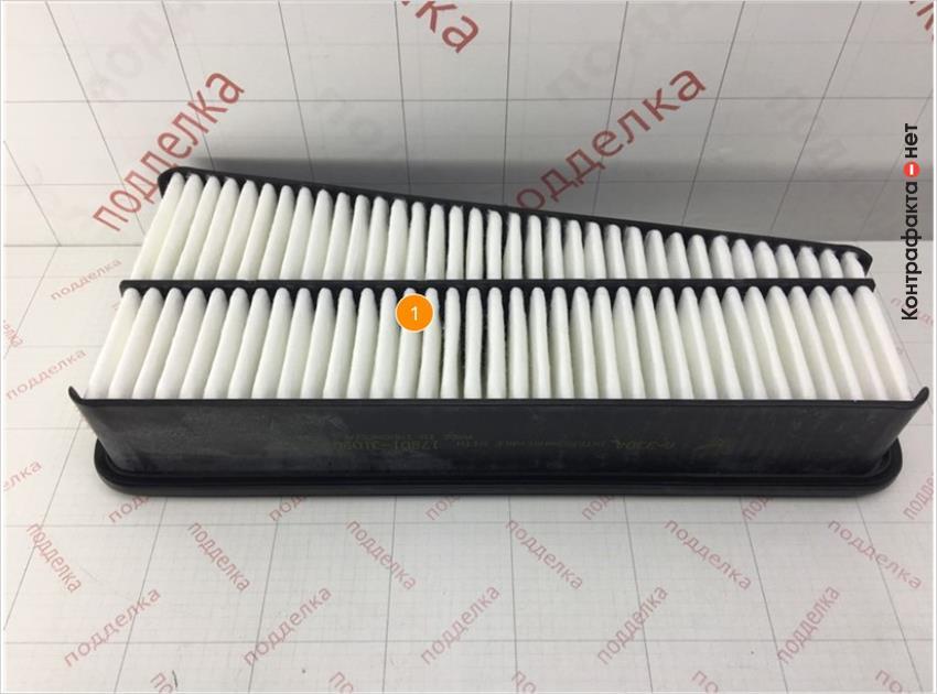 1. Отличается материал и плотность сот фильтрующего элемента.