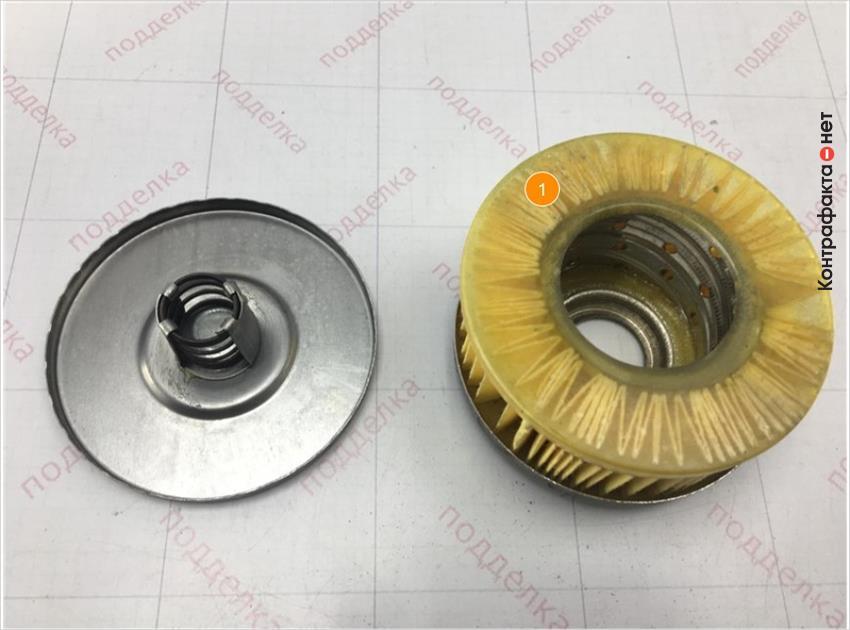 1. Некачественная склейка фильтрующего элемента с корпусом.