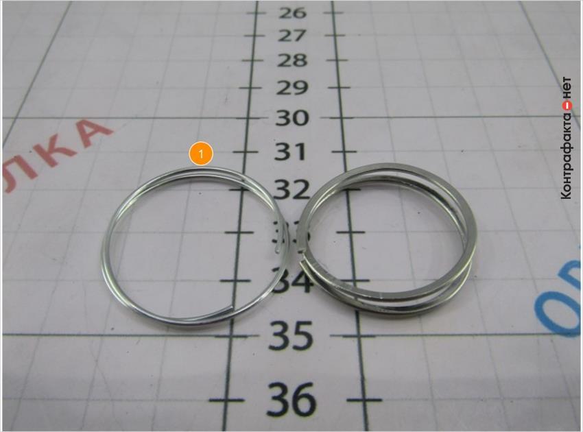 1. Фиксирующее кольцо изготовлено из тонкой проволоки.