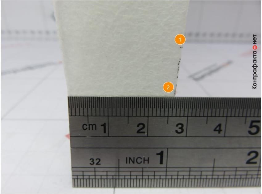 1. Излишки краски. | 2. Разная ширина 26. 5мм (эталон -. 28. 5мм).
