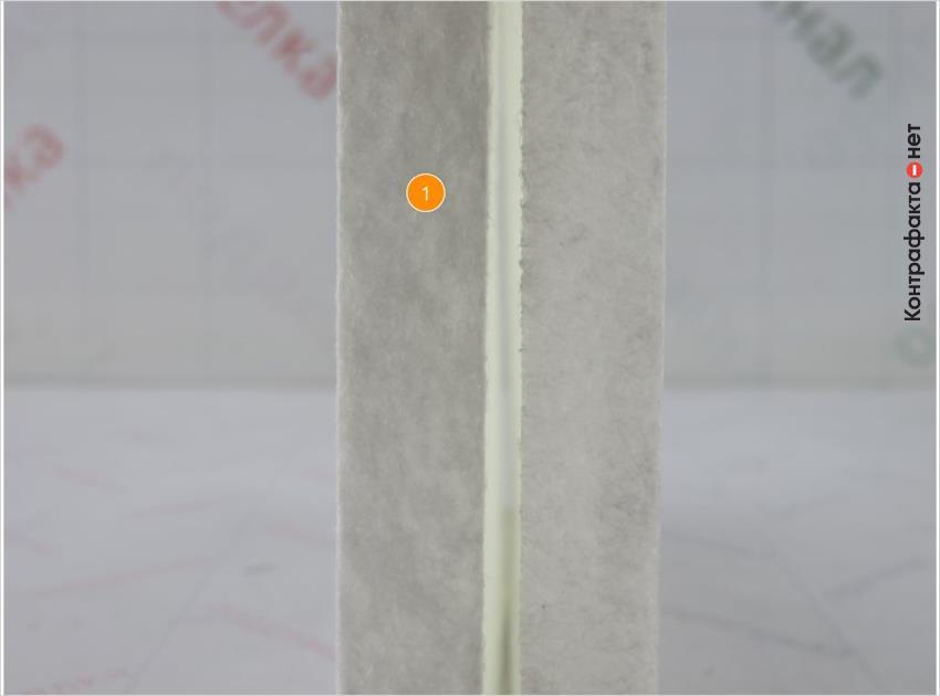 1. Материал фильтрующего элемента не соответствует оригиналу.