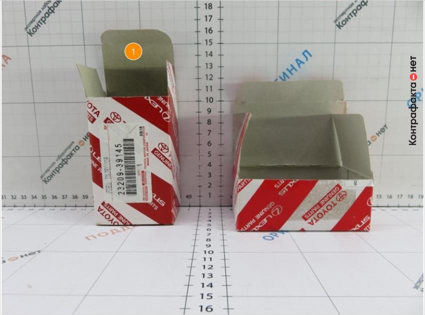 1. Отличается конструкция коробки.