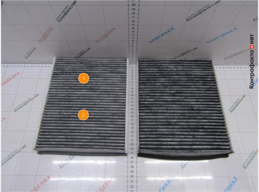 1. Светлый оттенок фильтра. | 2. Используется 36 ламелей, в оригинале 33.