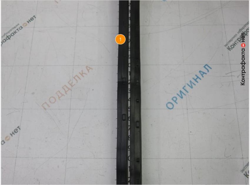 1. Размер, взаиморасположение и количество боковых элементов не соответствует оригиналу.