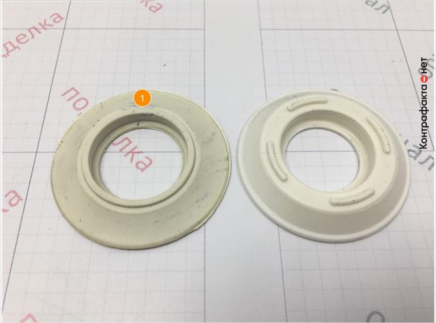 1. Форма и размер обратного клапана отличается.