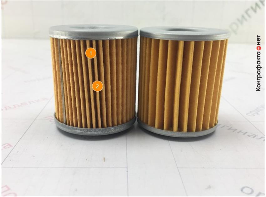 1. Отличается материал и плотность сот фильтрующего элемента. | 2. Отличается кол-во сот фильтрующего элемента.