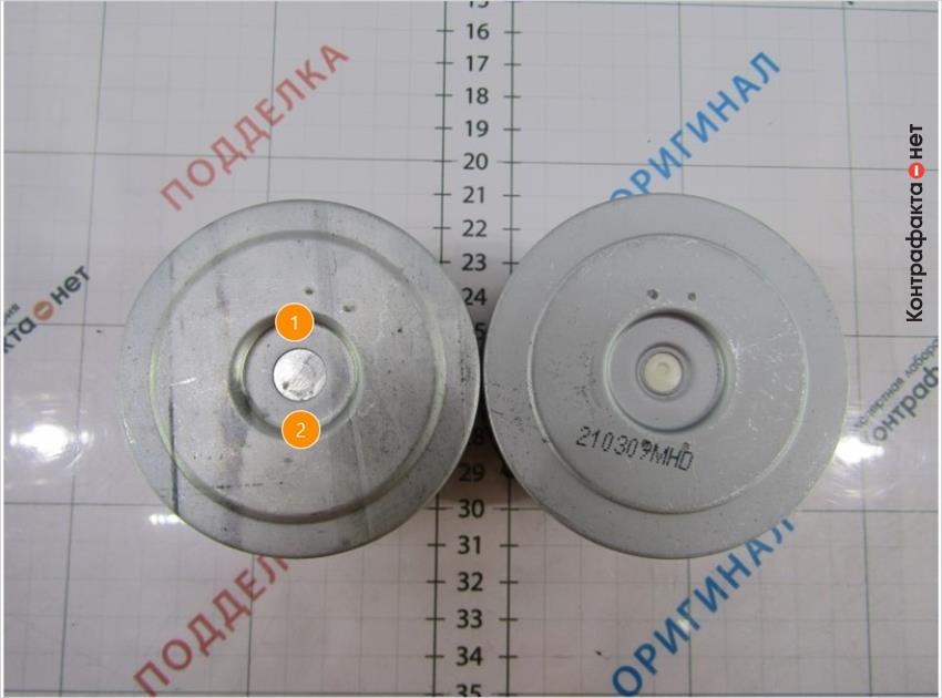 1. Металлический обводной клапан. | 2. Не нанесена маркировка.
