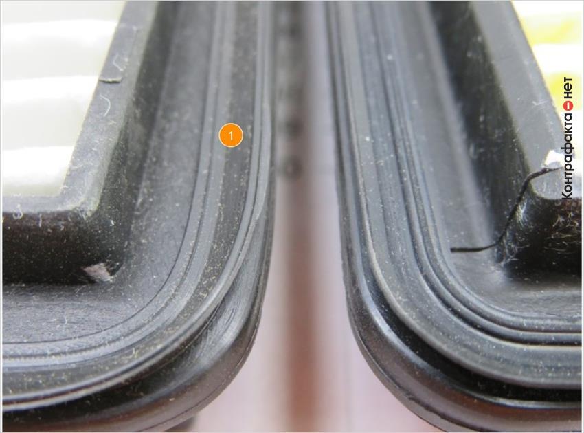 1. Резиновый уплотнитель другой формы.