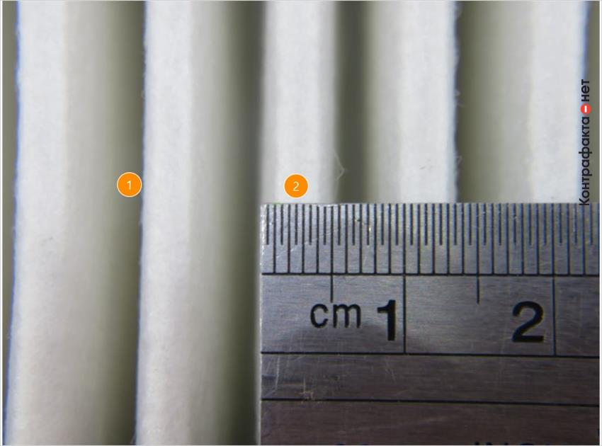1. Низкое содержание синтетического волокна. | 2. Фильтровальные ламели меньшей ширины.