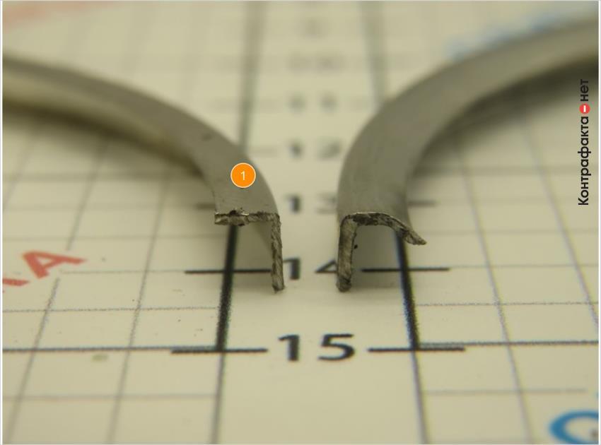 1. Форма кольца с прямым углом.