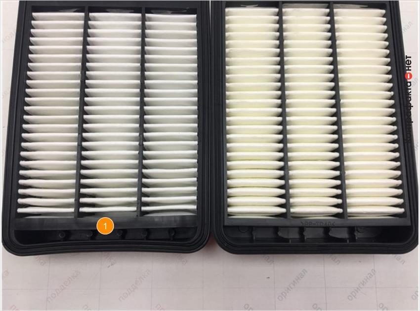 1. Корпус фильтра имеет дефект литья.