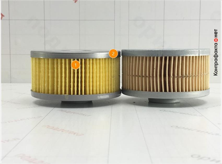 1. Отличается цвет и материал фильтрующего элемента. | 2. Отличается размер.