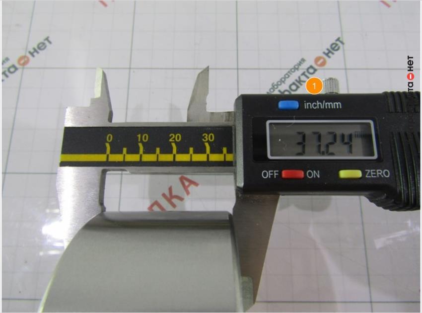 1. Диаметр подшипника больше оригинала на 0, 27мм.