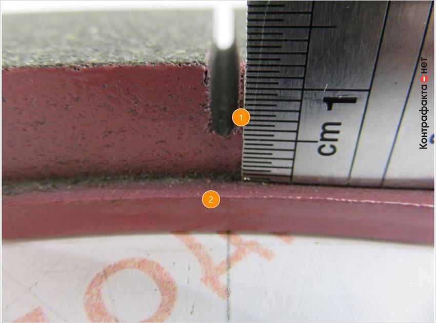 1. Глубина меньше на 1мм. | 2. Не нанесена маркировка.