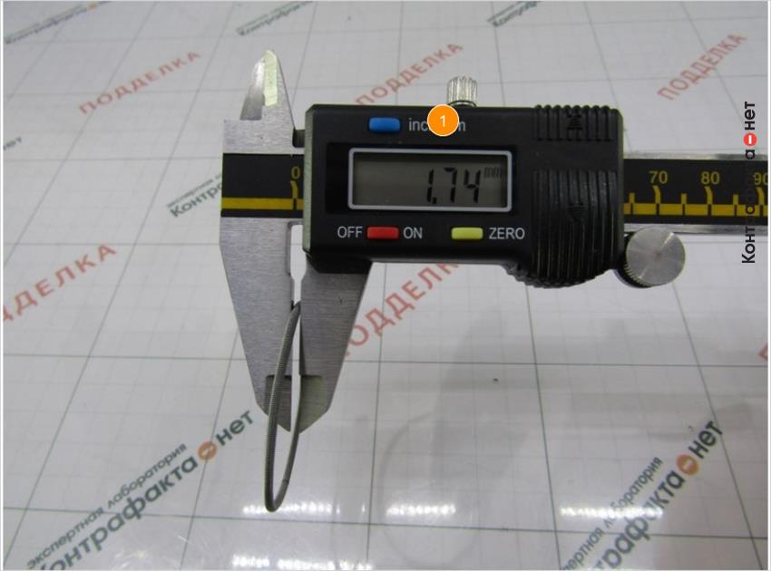1. Толщина пружины больше на 0, 22мм.