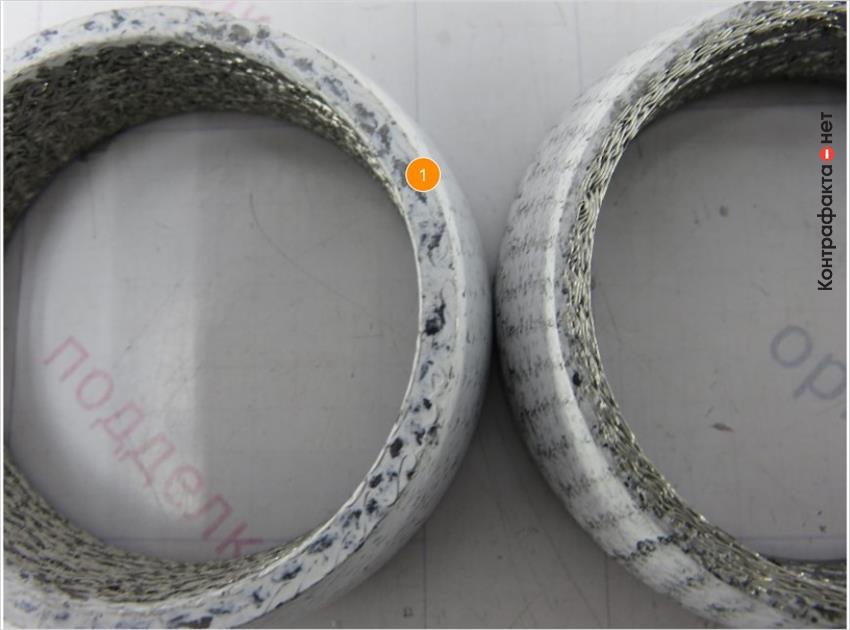 1. Торцевая часть сальника некачественно обработана уплотнительным материалом.