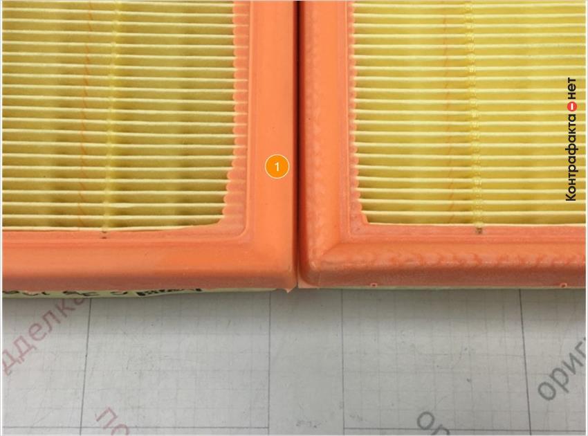1. Отличается упругость полиуретановой окантовки.