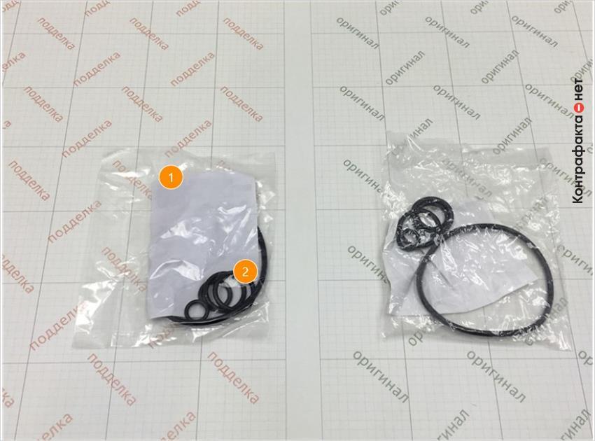 1. Отличается плотность полиэтиленовой упаковки. | 2. Отсутствует обработка тальком.