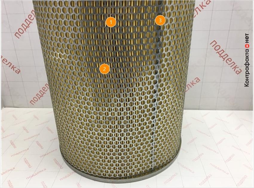 1. Отличается железная часть корпуса фильтра. | 2. Отличается способ соединения корпуса фильтра. | 3. Отличается материал и плотность сот фильтрующего элемента.