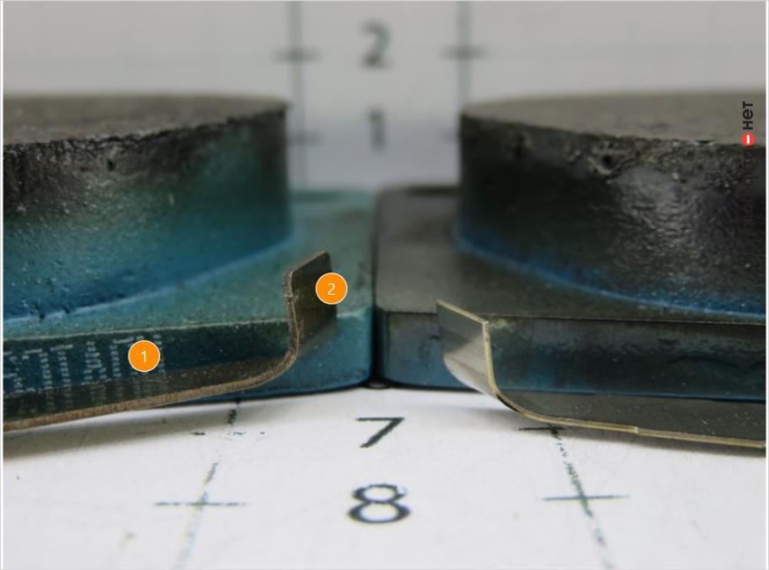 1. Сигнализатор другой формы. | 2. Преждевременное срабатывание из-за большей длины.
