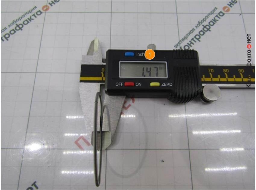 1. Толщина пружины меньше на 0, 08мм.