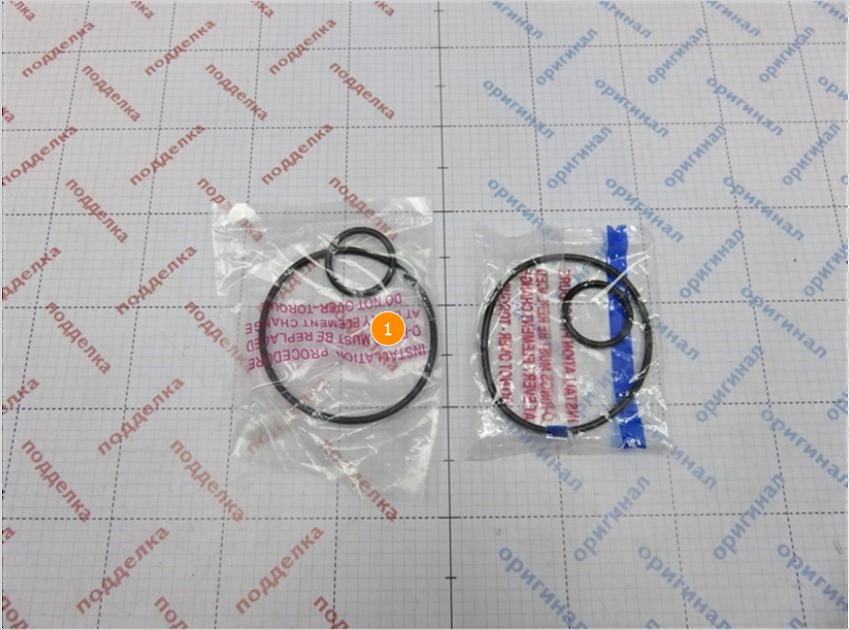 1. Отличается плотность полиэтилена и пайка упаковки резиновых уплотнителей.