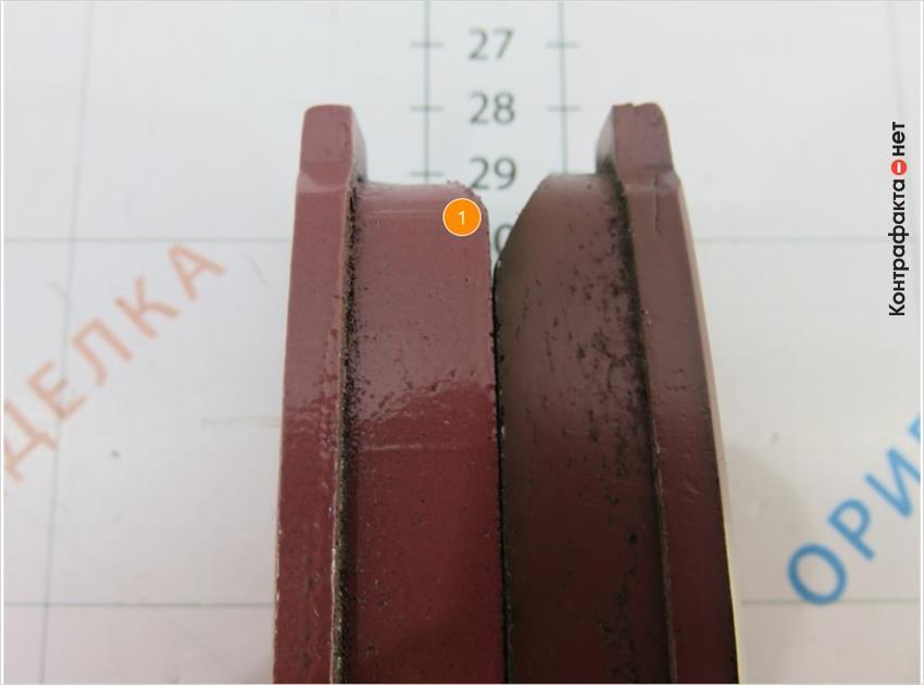 1. Разный скос фрикционного композита.