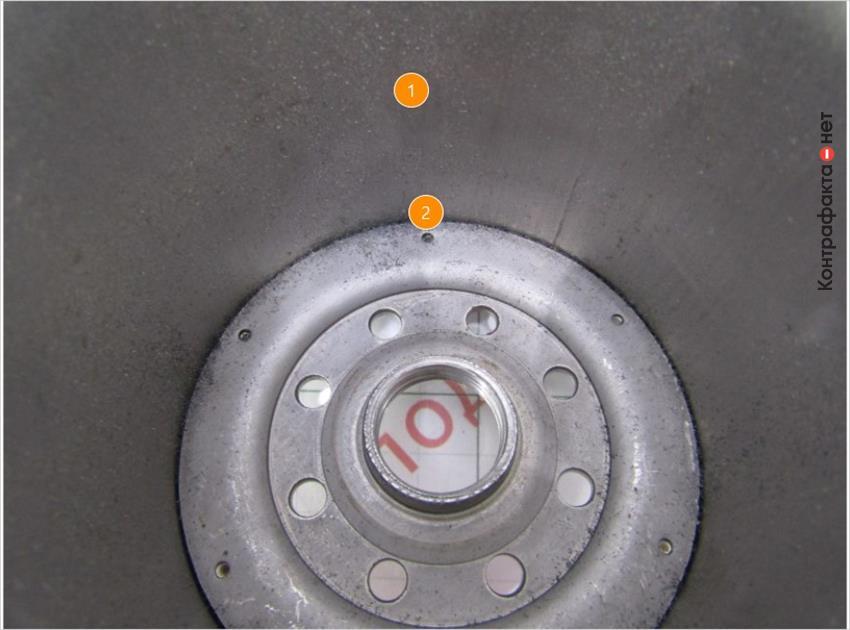 1. Внутренняя поверхность корпуса фильтра без дополнительной обработки. | 2. Другой способ соединения корпуса фильтра с резьбовой частью, в оригинале использована точечная сварка.