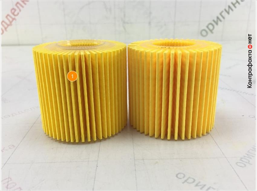1. Отличается материал и кол-во сот фильтрующего элемента.