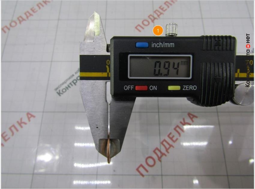 1. Толщина шайбы меньше на 0, 47 мм.