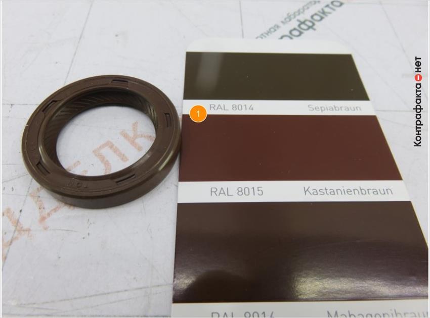 1. Резиновая смесь оттенка (ral 8015), у оригинала (ral 8016).