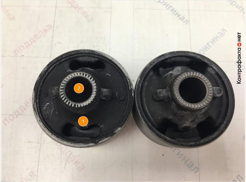 1. Имеет конструктивное отличие. | 2. Отличается диаметр отверстия.