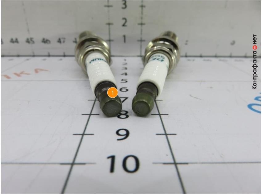 1. Контактная гайка плоской формы без внешней обработки.