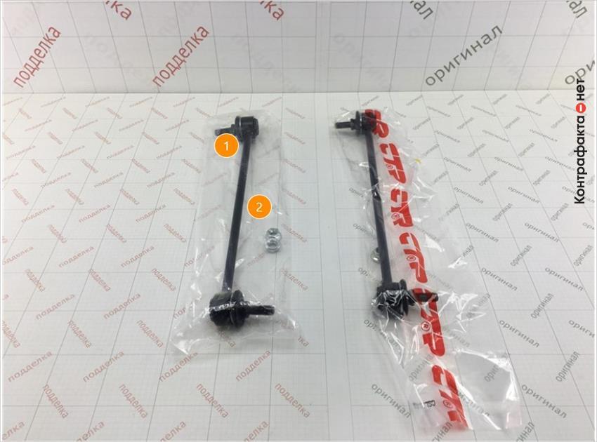 1. Отличается плотность и размер полиэтиленовой упаковки. | 2. Отсутствует маркировка.
