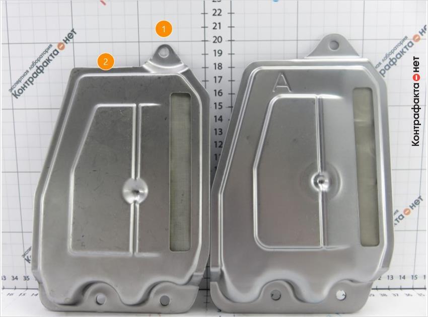 1. Габаритные размеры фильтра не соответствуют оригиналу. | 2. Буквенная маркировка не обозначена.