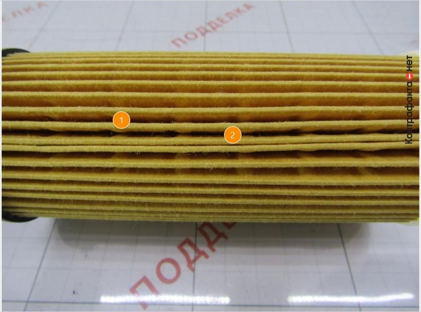 1. Менее выражены следы от пресс-формы. | 2. Использована другая технология шва фильтрующих ламелей.