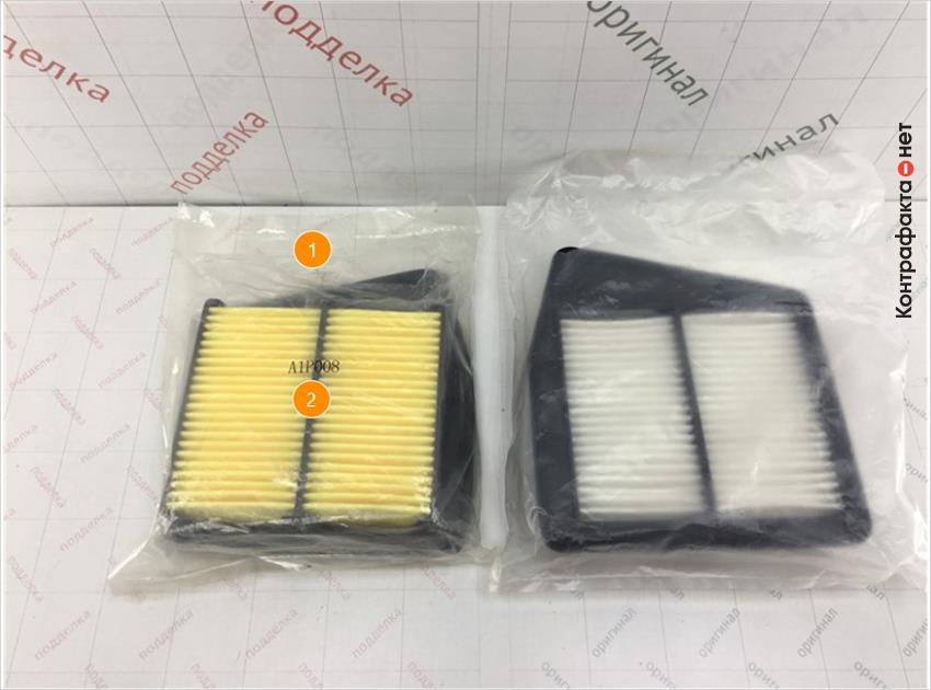 1. Отличается размер и плотность полиэтиленовой упаковки. | 2. Лишняя маркировка.