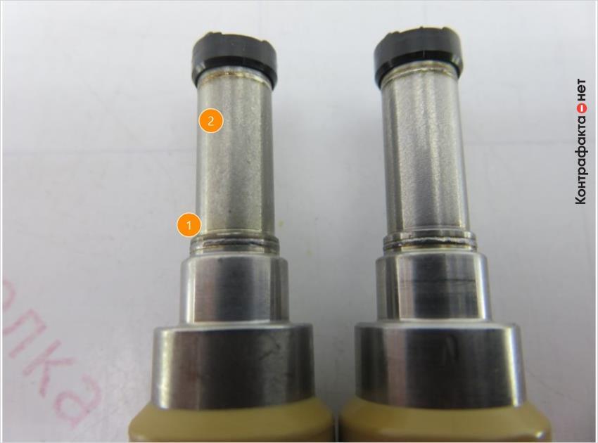 1. Некачественная обработка металла.   2. Отличается оттенок металла.