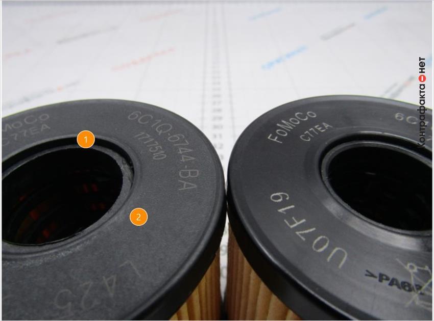 1. Острые края внутренней части корпуса.   2. Фаски выполнены под меньшим углом.
