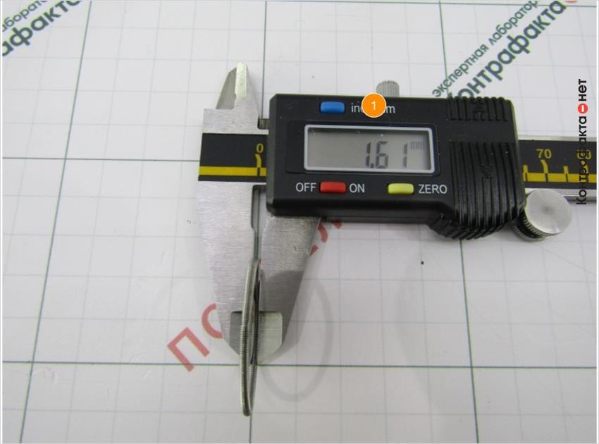 1. Диаметр пружины больше на 0, 12 мм.