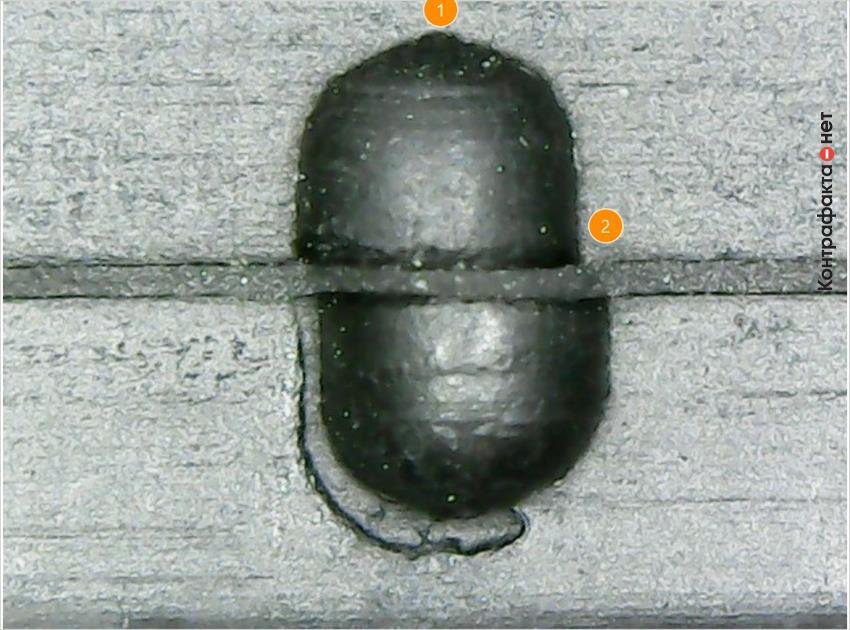 1. Боковой элемент упрощенной формы. | 2. Литье выполнено со смещением.