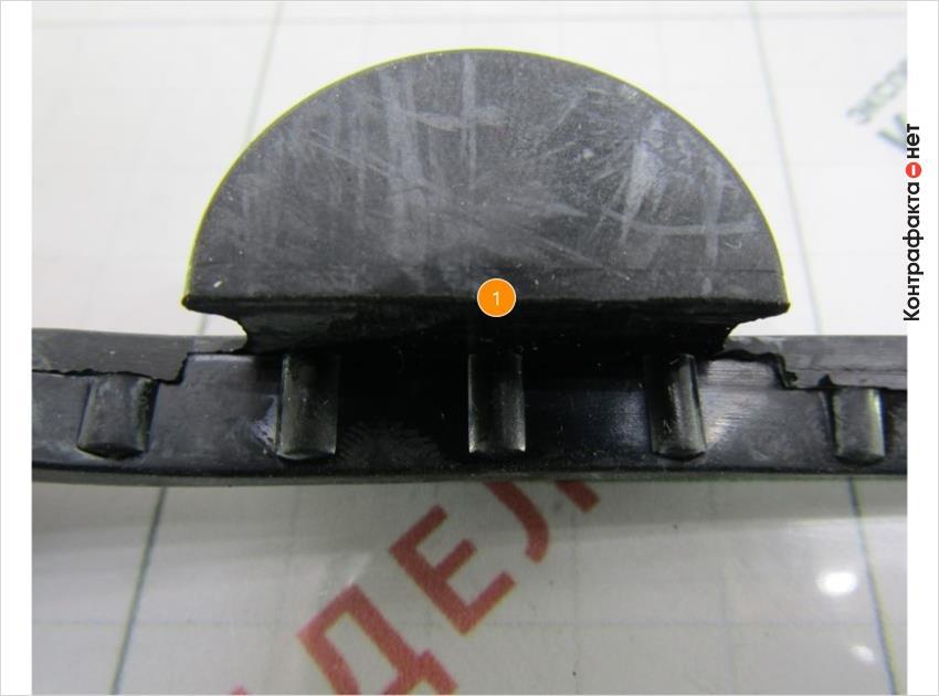 1. Боковые элементы другого диаметра и формы.