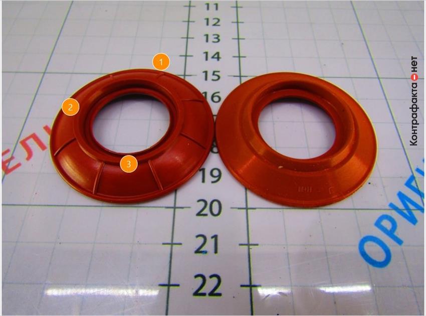 1. Конструктивные отличия. | 2. Оттенок противодренажного клапана не соответствует оригиналу. | 3. Не нанесена маркировка производителя.
