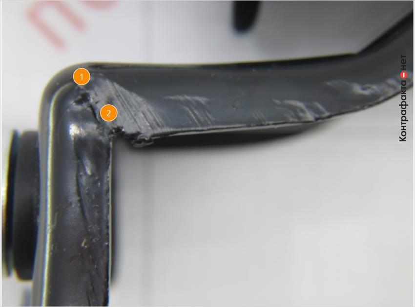 1. Смятая поверхность в местах изгиба.   2. Царапины и задиры внешней обработки металла.
