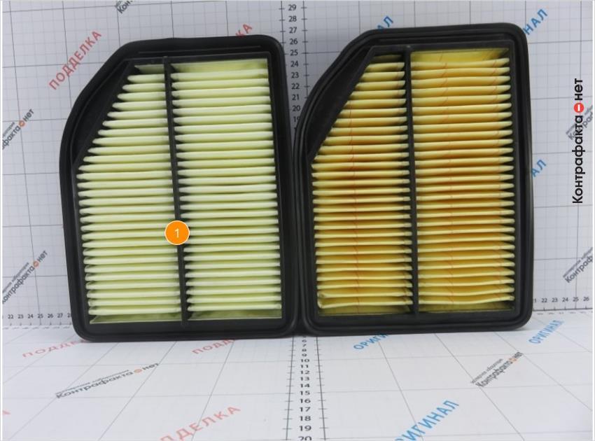 1. Оттенок фильтрующего элемента не соответствует оригиналу.