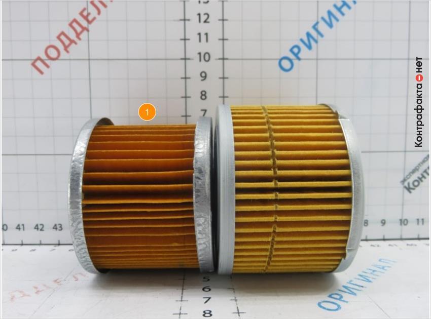 1. Габариты фильтрующего элемента меньше оригинала.