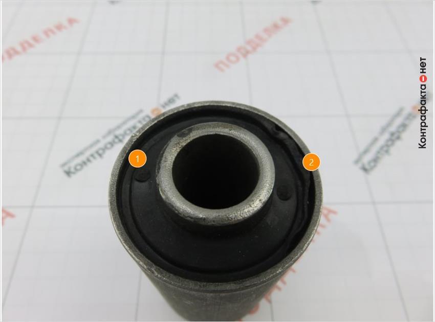 1. Отличается форма резиновой втулки. | 2. Края отделяются от наружного корпуса.