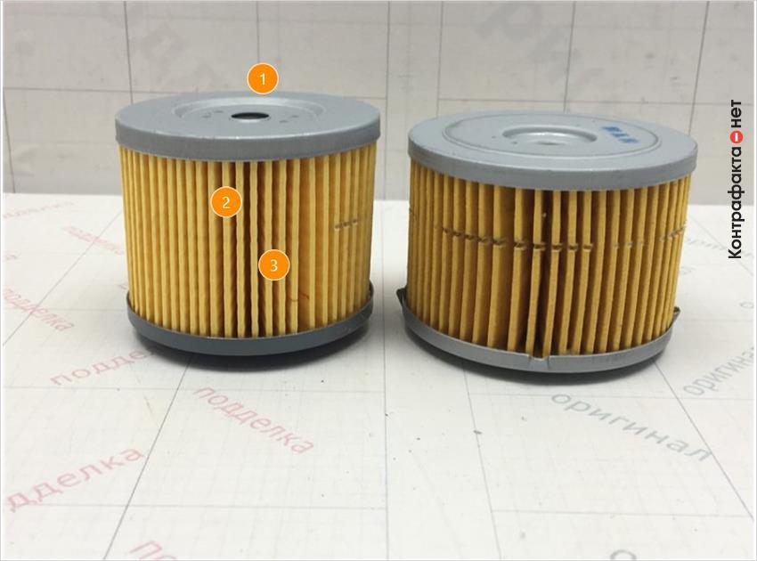 1. Отличается размер фильтра. | 2. Отличается оттенок цвета фильтра. | 3. Отличается материал и плотность сот.