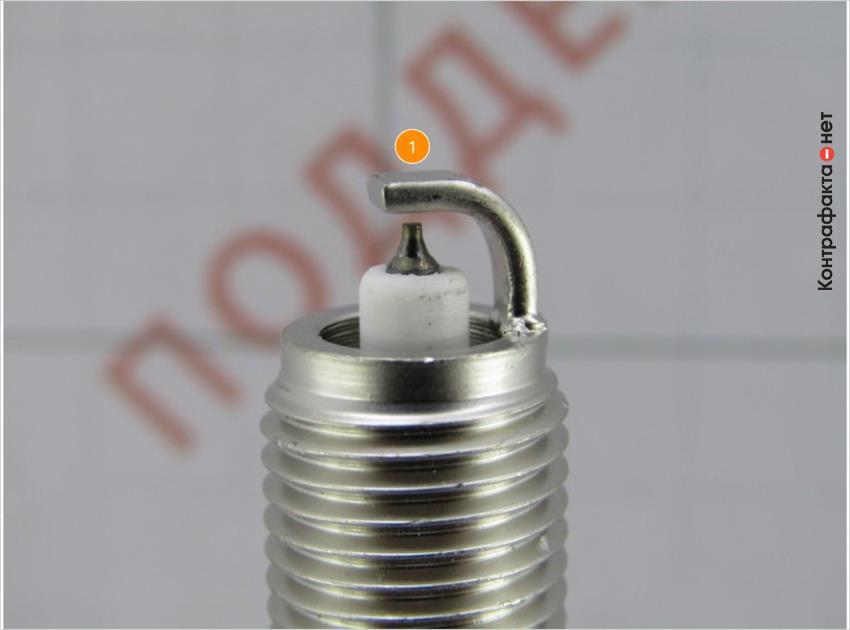 1. Боковой электрод изготовлен без технологии «двойной наконечник».